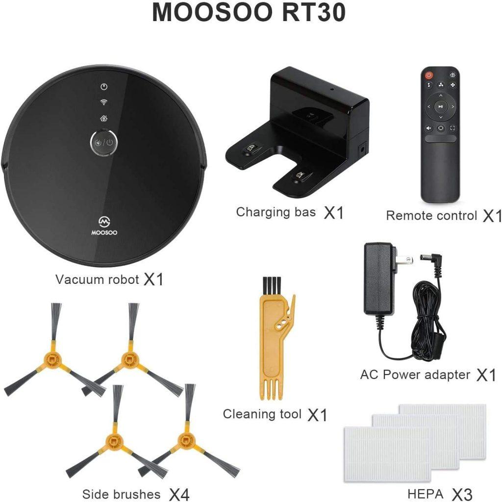 MooSoo robot aspirapolvere - contenuto della confezione